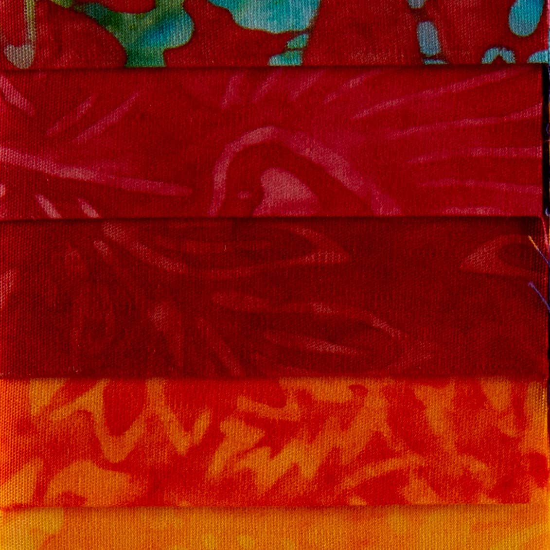 Timeless Treasures Tonga Batik Color Wheel Forest Collection  2-12in Strips Batik 20pc pack
