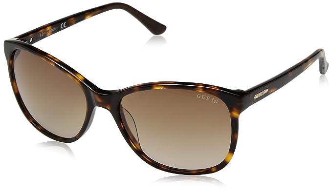6d86cda5fcc Amazon.com  GUESS Women s Acetate Square Soft Cat-Eye Sunglasses 52F ...