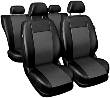 Car seat covers fit Mazda CX-5 full set black//blue leatherette//polyester