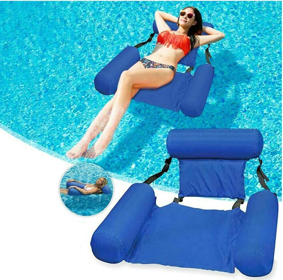 Outdoor Natural Gas Fire Pit Table, Amazon Com Mandopon Dochi Queen Water Chair Inflatable Swimming Pool Float Lounge Inflatable Water Hammock Lake Float Bed Lazy Lounger Chairs Seat For Swimming Pool Summer Beach Holiday Party Blue Sports Outdoors