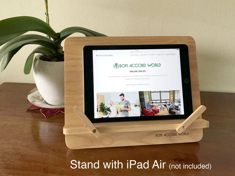 Verstellbare tragbare Holzbuchstütze Multi-Ständer für Kochbücher