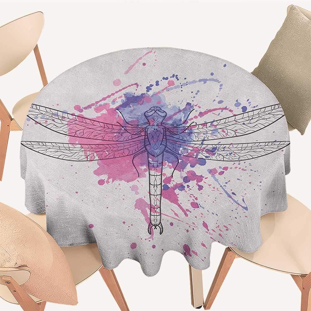 longbuyer トンボ テーブルカバー ファンタジー 花 様々な色調 シャビーシック フェミニン ビューティー プリント ターコイズ アンバー D 54