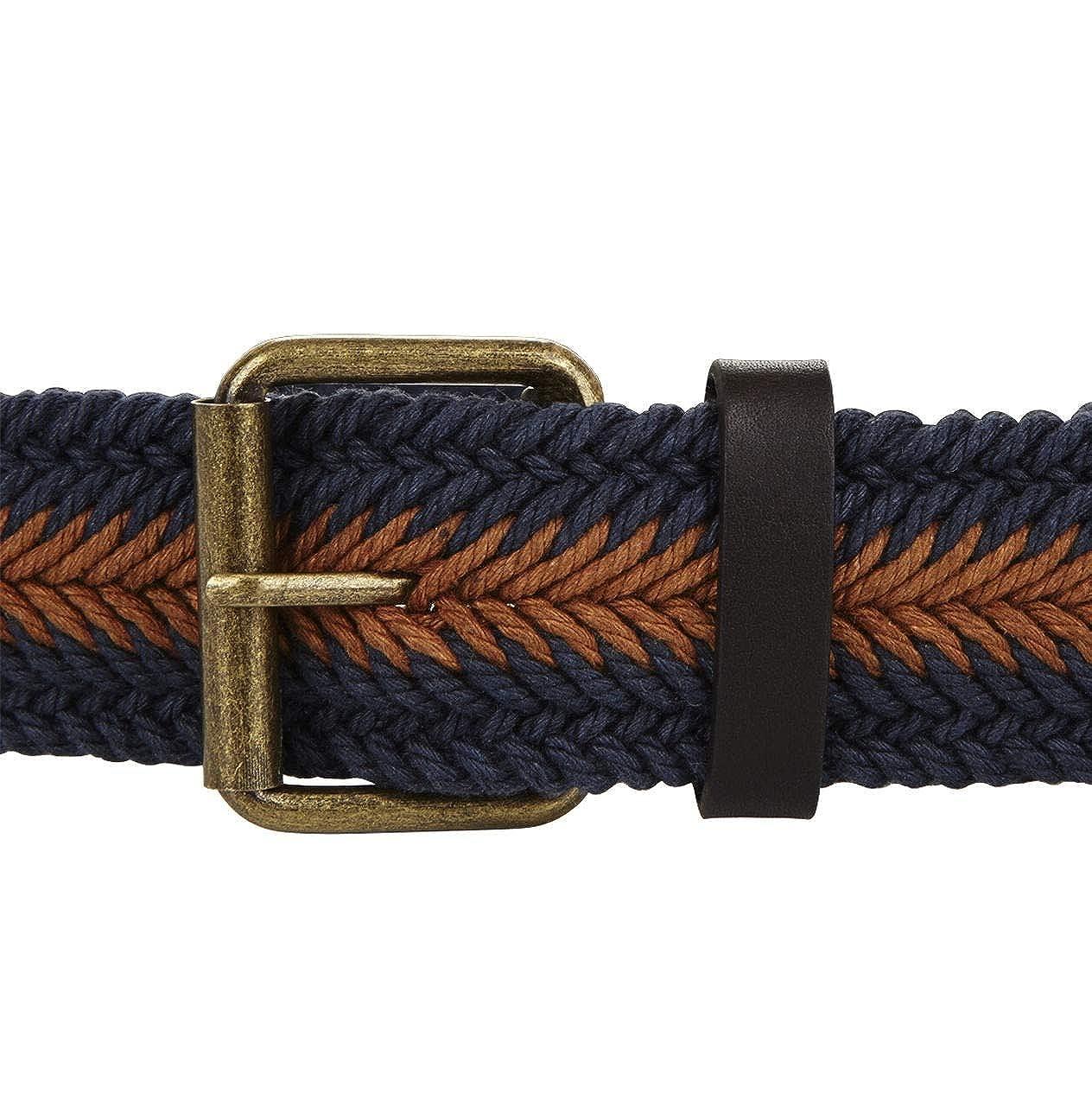 BCBG Blue Brown Plaited Belt