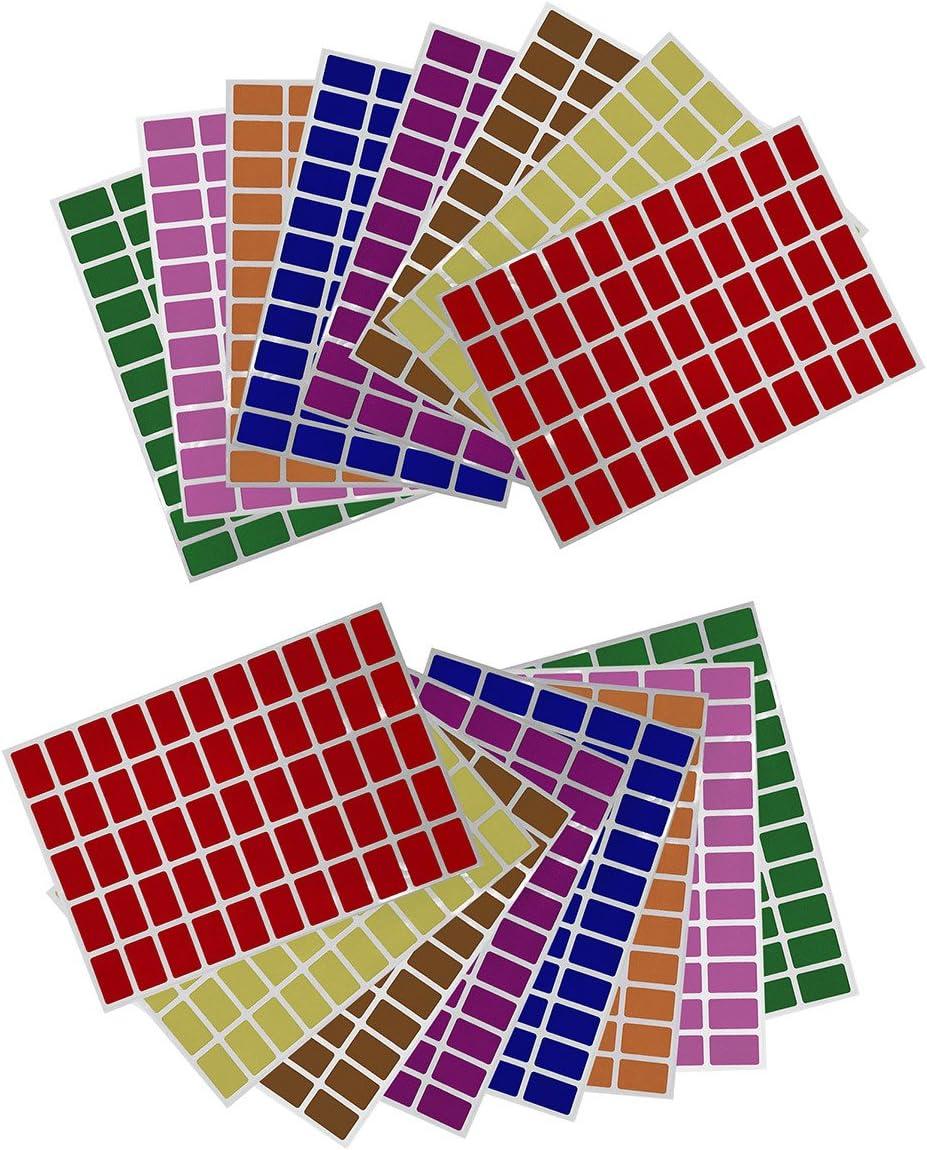 Gr/ö/ße 2,5cm x 1,6cm viereckige Etiketten 550 Vorteilspack von Royal Green Aufkleber Braun 25mm x 16mm rechteckige Sticker
