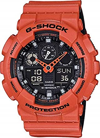792e6aee14a Amazon.com  Casio G-Shock GA-100 Military Series Watches - Orange ...
