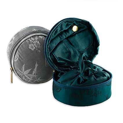 Amazoncom Travel Jewelry Case Silk Jacquard Black Home Kitchen