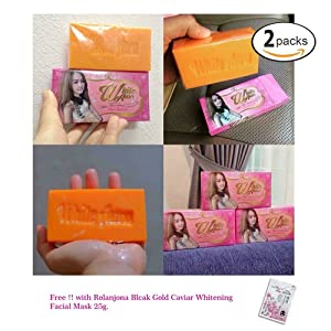 2 Units of White Aura Miracle Carrot Soap Brightening Bleaching Skin Care 160g.[Get Free Tomato Facial Mask] X221
