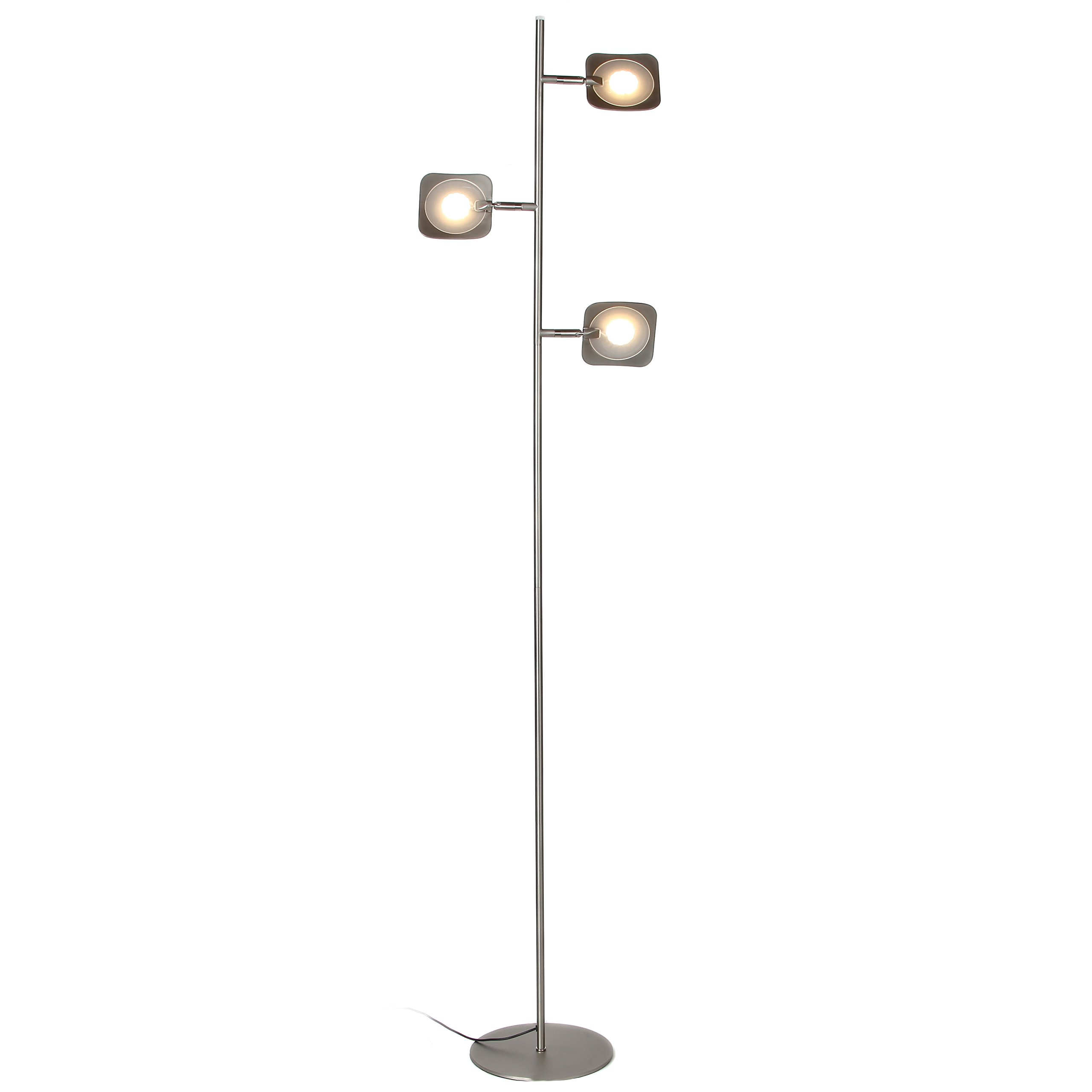 Details About Brightech Tree Led Floor Lamp Classic Adjustable 3 Light Floor Lamp With