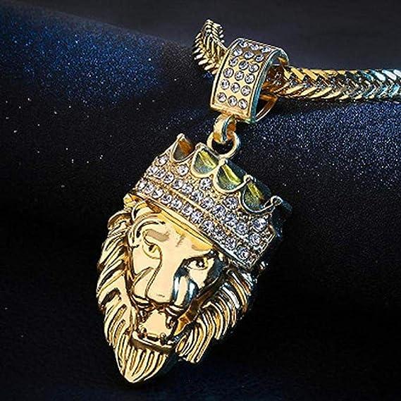 Scpink Venta de liquidación! Collar colgante de león, cadena ...