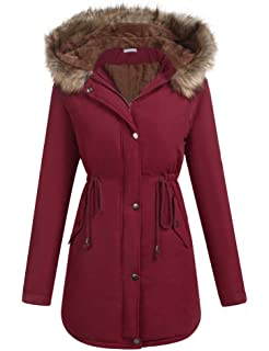 fb48db1851d7d ELESOL Women's Military Hooded Warm Winter Parkas Faux Fur Lined Jacket  Coats