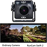 RunCam Swift 2 600TVL FPV Camera Mini 2.3mm for Flying Drones150 Degree OSD WDR DC 5-36V NTSC Integrated MIC for Multicopter Black with 1 PCS RGB LED BAR