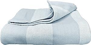 Magnolia Organics Patterned Blanket - Full/Queen, Blue Haze