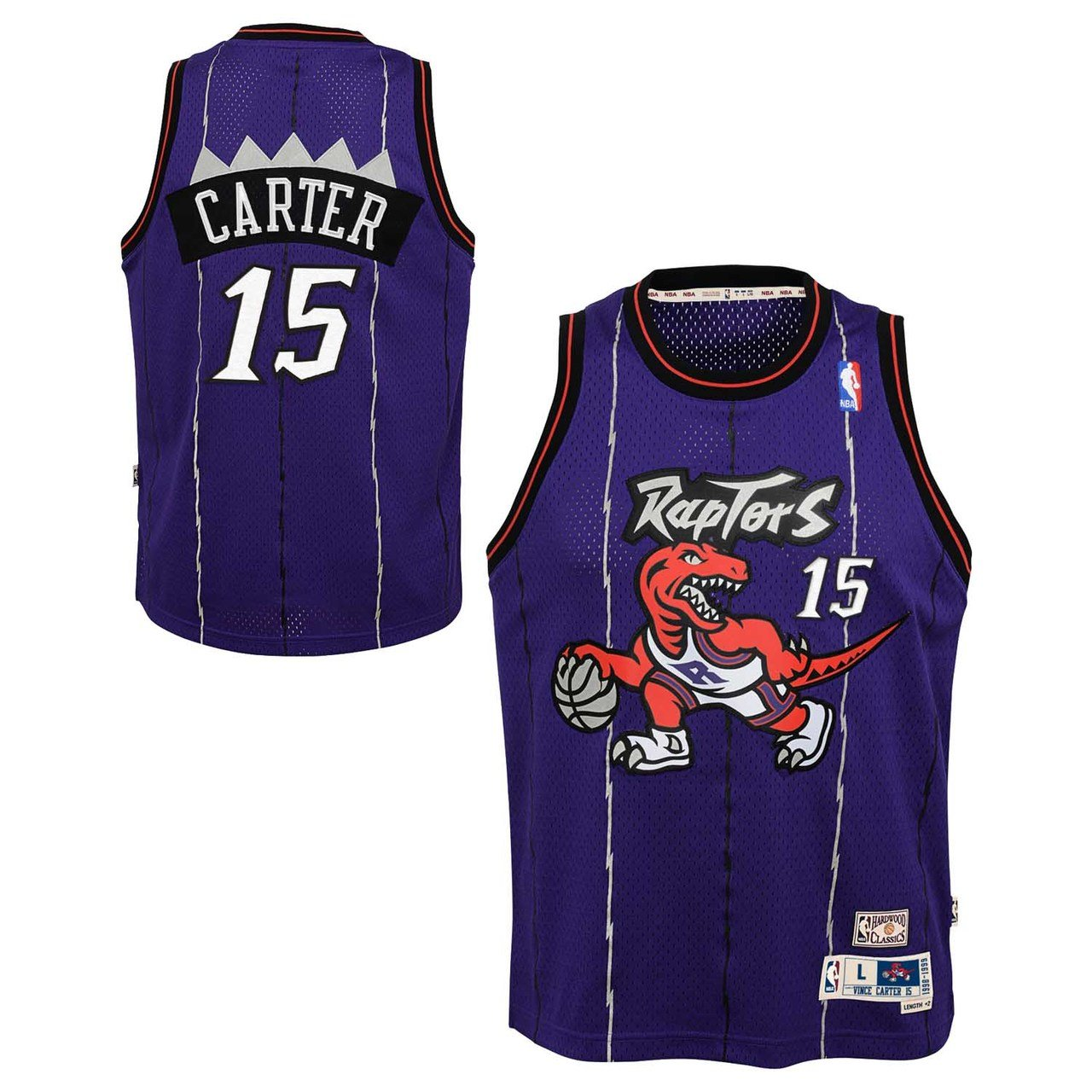 info for ad239 58557 Outerstuff Vince Carter Toronto Raptors NBA Youth Throwback 1998-99  Swingman Jersey