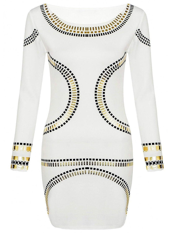 CHOCOLATE PICKLE New Womens Plus Size Gold Foil Polka Dot Printed Long Sleeve Midi Dress 12-20