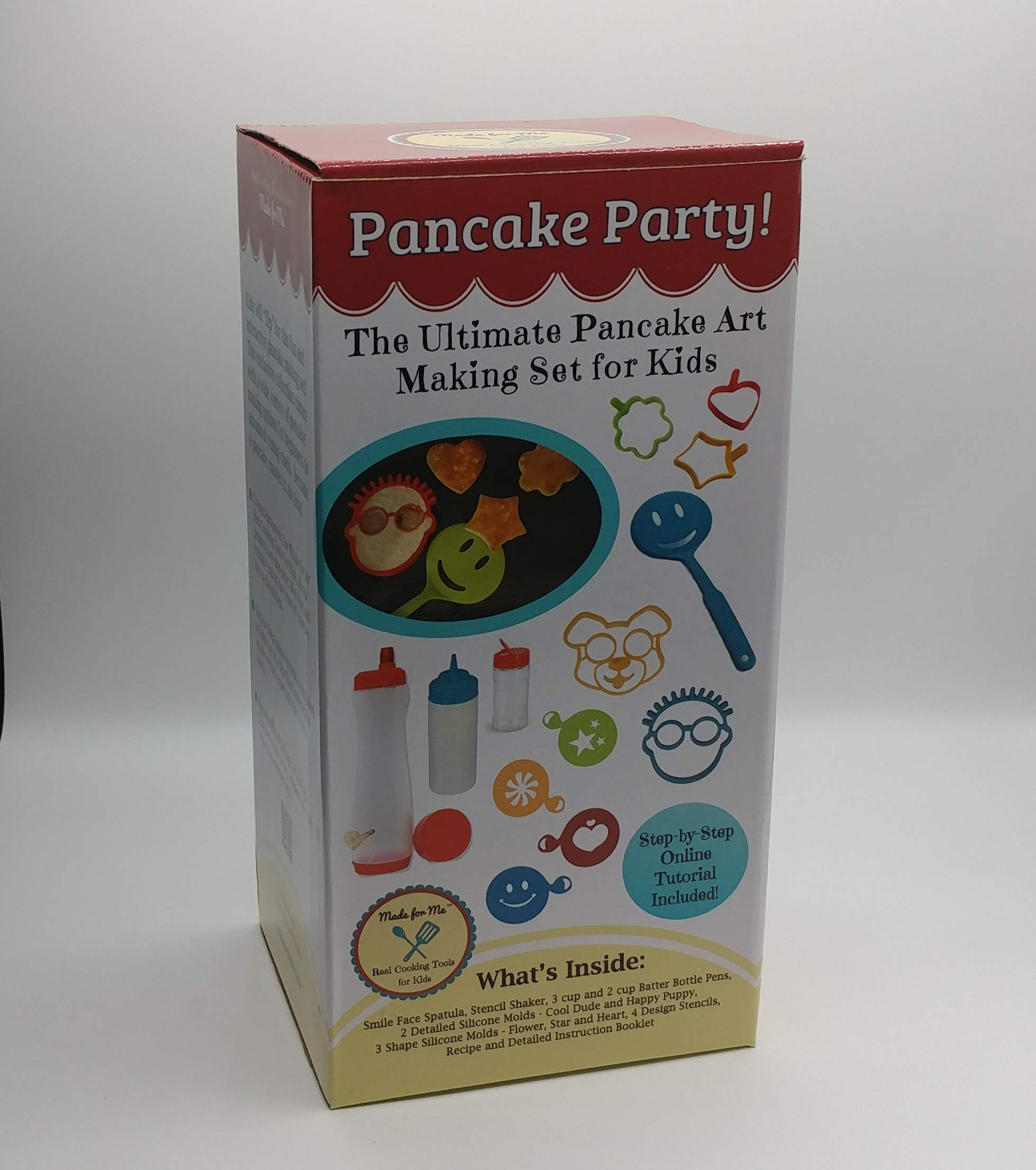 Pancake Party! The Ultimate Pancake Art Making Set for Kids - SUMMER SALE! / REG $35.95 Excellent culinary educational gift for children, young bakers, chefs! baking, cooking kit for boys and girls! by Made for Me (Image #2)