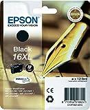 Epson C13T16314022 - 16XL - 6.5 ml - XL size - black - original - blister with RF/acoustic alarm - ink cartridge - for WorkForce WF-2010, 2510, 2520, 2530, 2540, 2630, 2650, 2660, 2750, 2760