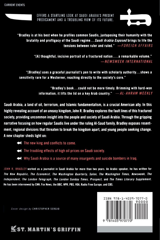 Saudi Arabia Exposed Inside A Kingdom In Crisis UPDATED Amazoncouk John R Bradley 9781403970770 Books