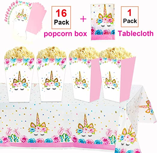 Amazon.com: Unicorn Party Favor Cajas 16 unidades & Unicorn ...