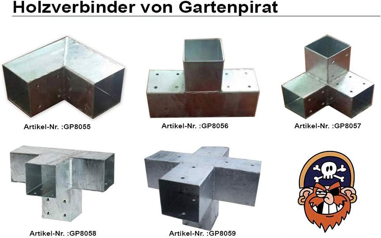 Gartenpirat Conector Poste Madera Cuadrado, 4 Postes, 9x9 cm ...