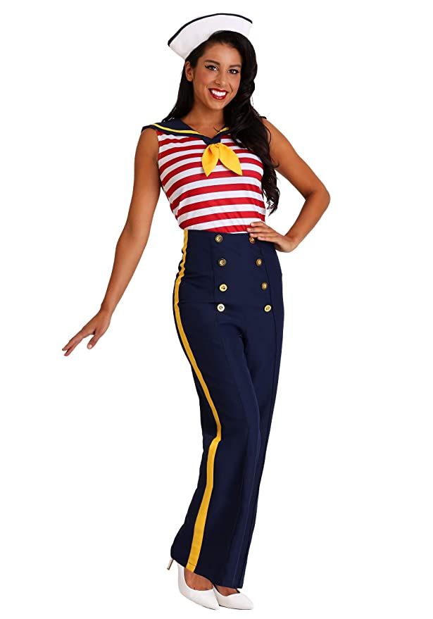 1940s Costumes- WW2, Nurse, Pinup, Rosie the Riveter Womens Perfect Pin Up Sailor Costume $39.99 AT vintagedancer.com