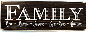 Sign - Family, Love, Listen, Share, Be Kind, Forgive