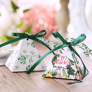 Amazon 100 Pack Love Flamingo Wedding Gift Box Triangle Elegant