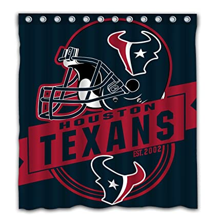 Felikey Custom Houston Texans Waterproof Shower Curtain Colorful Bathroom Decor Size 66x72 Inches