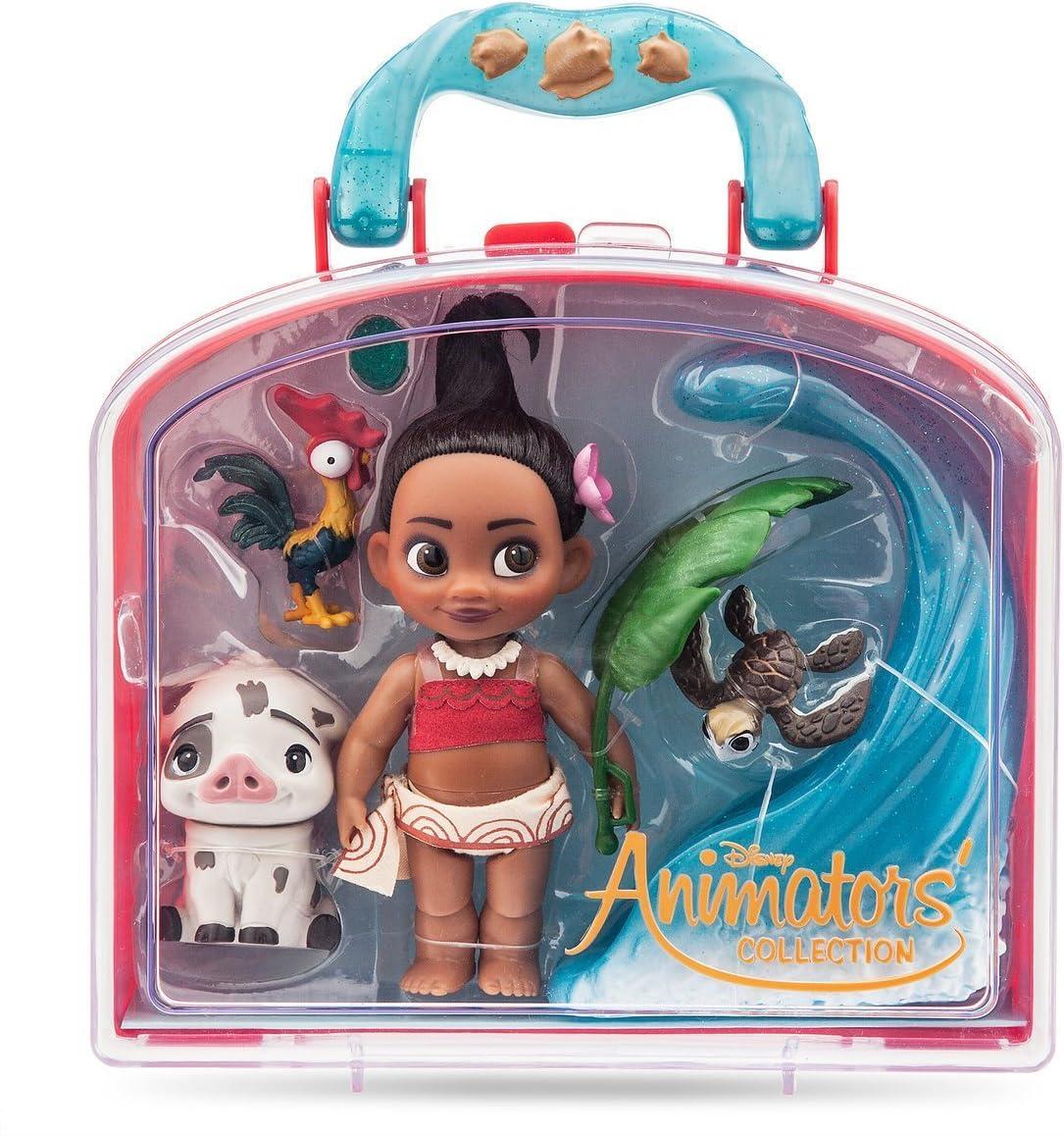Amazon Com Disney Animators Collection Moana Mini Doll Play Set 5 Inch Toys Games