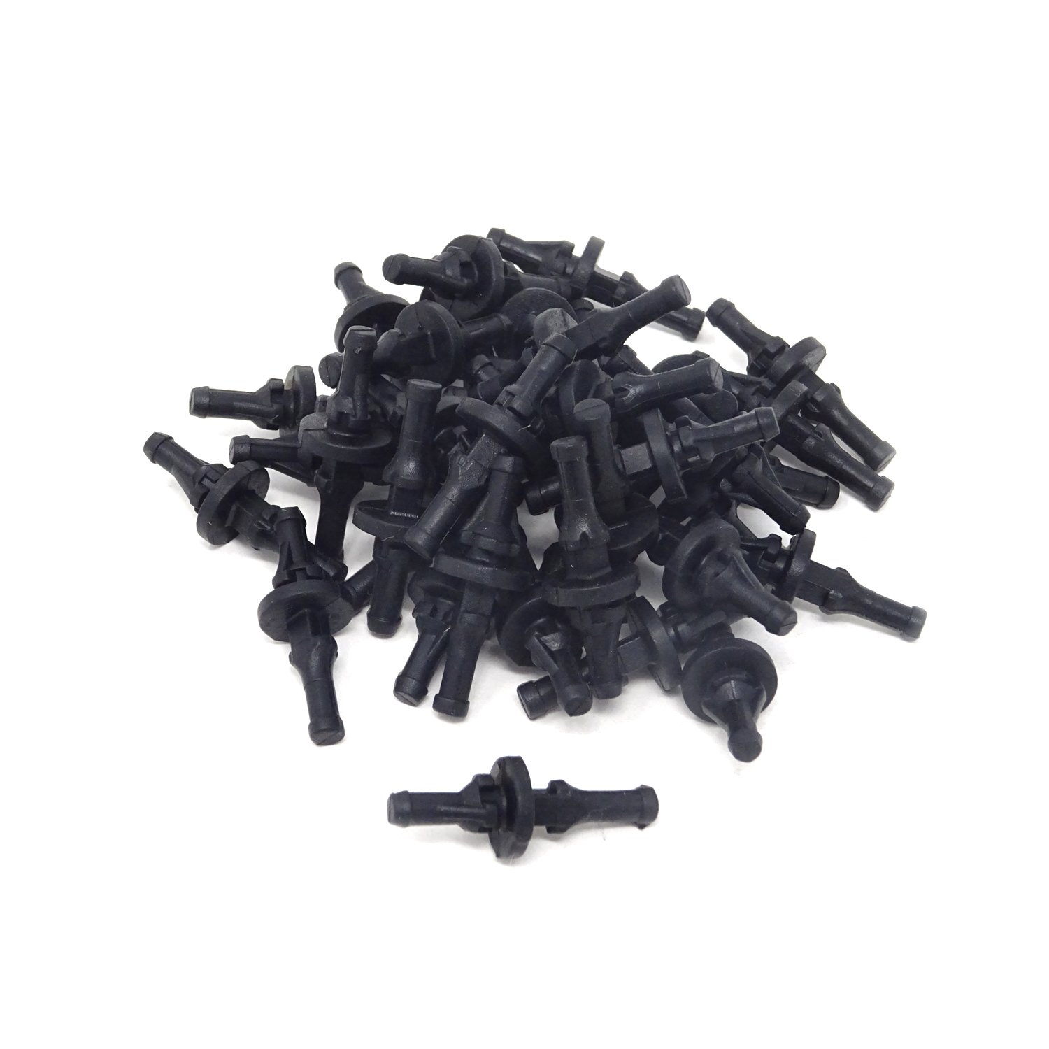 HONBAY 40PCS PC Case Fans Black Rubber Reducing Noise Anti-Vibration Screws Fan Rivet for PC Case Fan or CPU Fan