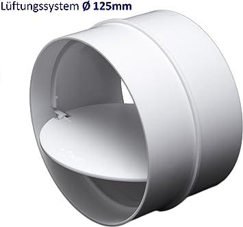 Tubo conector Empalme con válvula antirretorno. Tubo conector para PVC sistemas de ventilación Ø125 mm.: Amazon.es: Bricolaje y herramientas