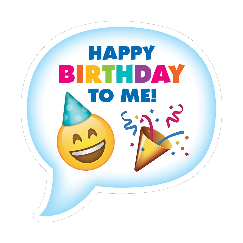 Creative Teaching Press Award, Incentive Emoji Fun Birthday Badge, CT 4237