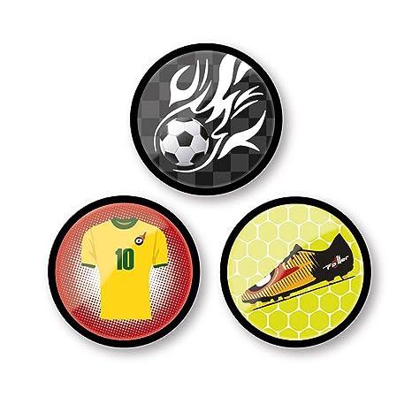 Nikidom, Chapas Mochila Roller Goal, Paquete 3 Unidades