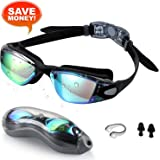 Swim Goggles,Zerhunt Professional No Leaking UV Protection Triathlon Anti Fog Swimming Goggles for Women Men Adult Youth Kids Child