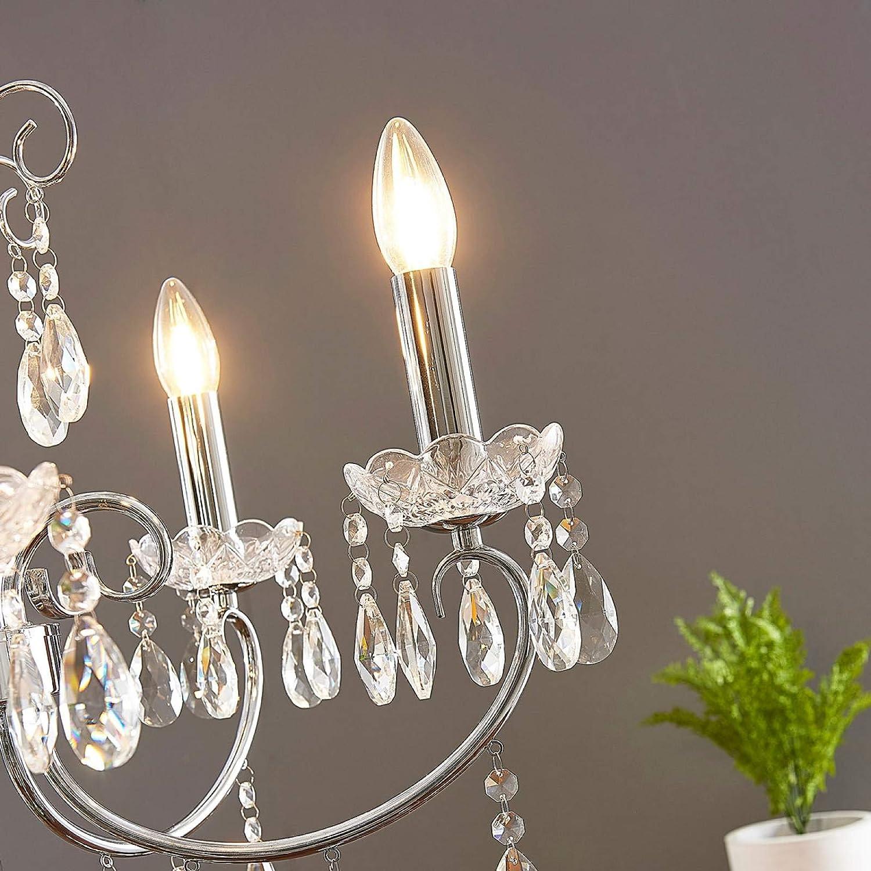Deckenleuchte Hängelampe Lampenwelt Kristall Kronleuchter Solveig