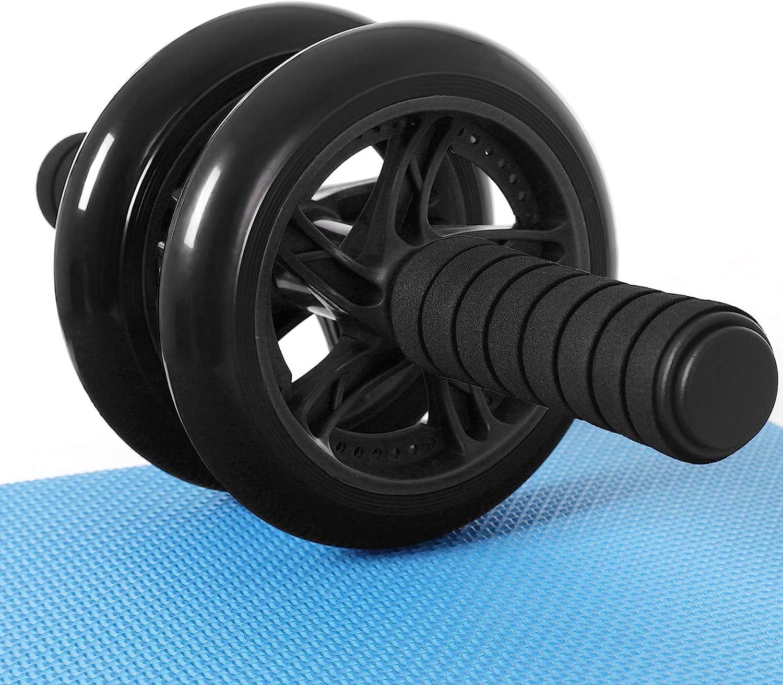 SONGMICS AB Roller AB Wheel Rueda para Flexiones Entrenamientos de Abdominals Push Up con Cojín del Arrodillamiento