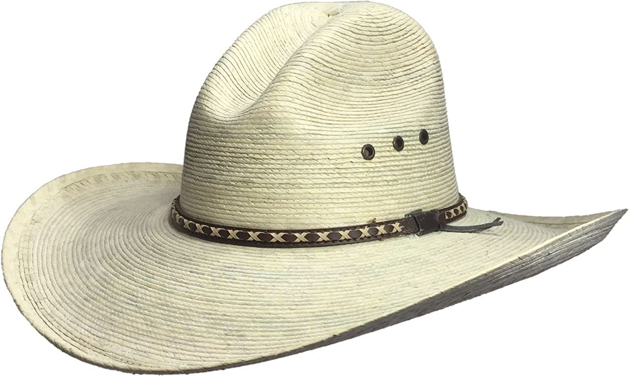 BULL-SKULL HATS Palm Leaf Cowboy Hat, GUS 505 GUS505LXL