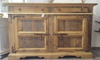 Credenza Da Cucina Antica : Credenza in legno antico di castagno cm amazon casa e cucina