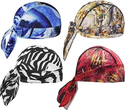 1 x Pirate Hat Sweat Absorbent Head Scarf Cycling Racing Bandana Cap