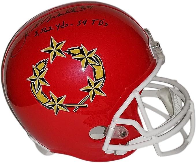 Herschel Walker 2411 Rushing Yds 1985 Autographed USFL Full-Size Football Helmet BAS COA