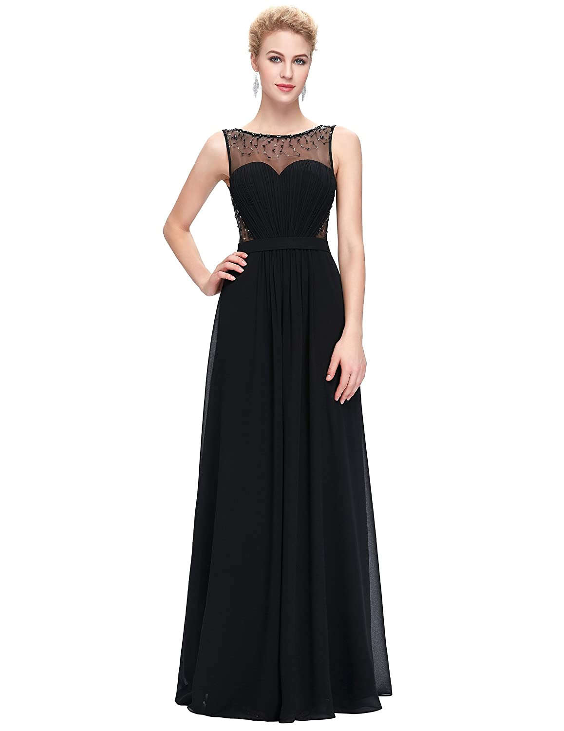 bef16fba746d Belle Long Prom Dress Elegant Maxi Length Evening Party Wedding Party Full  Dress ST61  Amazon.co.uk  Clothing