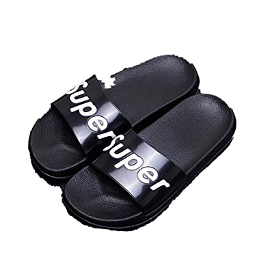 Slides Thick Soled Slippers Platform Sandals Shoes Zapatillas Mujer,Black Super,4.5