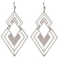 "Rain 1.5"" Geometric Art Deco Triangle Dangle Earrings"