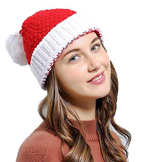 59e2fff966e Amazon.com  Bienvenu Unisex Christmas Winter Knitted Crochet Beanie ...