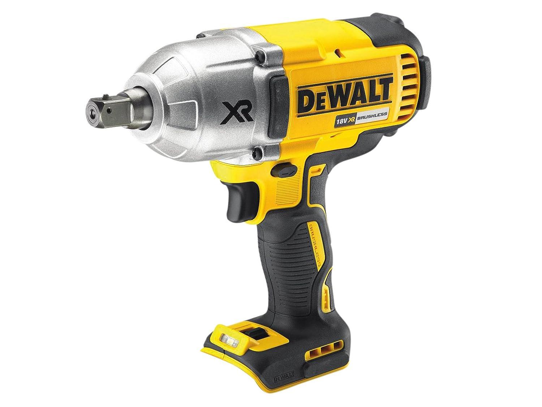 DeWalt DCF899N-XJ DCF899N High Torque Impact Wrench 18V Cordless Brushless (Body Only), 18 V, Yellow/Black, Bare Unit