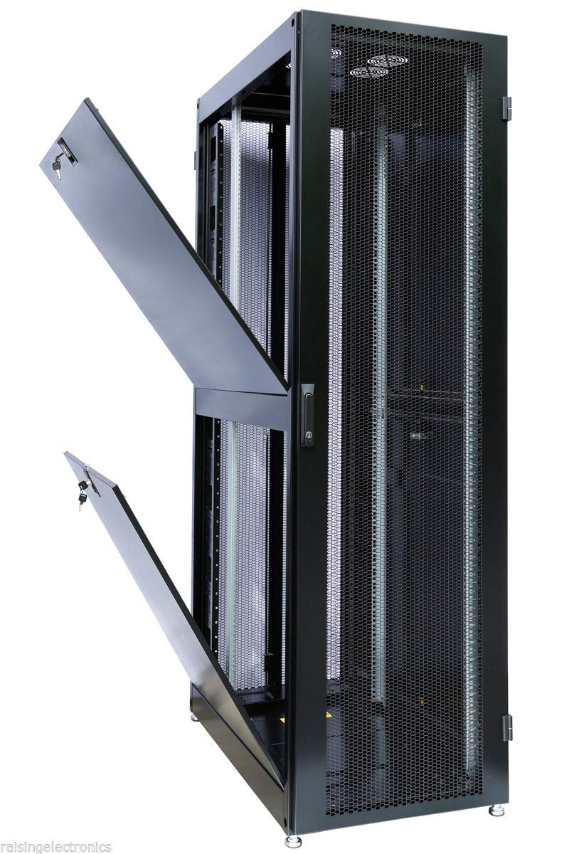 42U Internet/Network Server Cabinet, 19 inch Installation, 1000mm Depth by Raising Electronics
