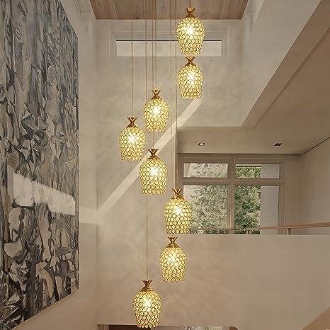 Amazon.com: Borde a araña doble escalera lámpara de araña ...