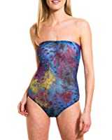 Kiniki Amalfi Blue Tan Through Tube Swimsuit Swimwear