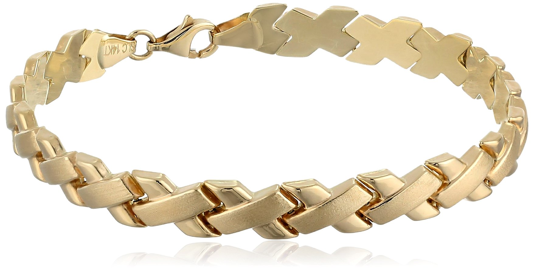 14k Yellow Gold X Link Bracelet