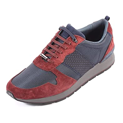 d46f0c39733e3 Ted Baker Men s Jaymz Textile Suede Lace Up Trainer Dark Red Dark Blue-