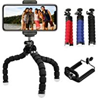 SmartPetal Universal Flexible Rotatable Small Tripod for Mobile, Action Camera with Clip Bracket Holder - Multi Color (Flexy)